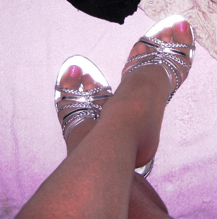 Lexi pink toes and silver shoes black bra and white panties cropped.jpg