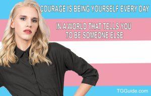 Transgender courage meme for social media